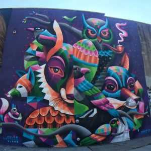 Street art, graffiti, murals