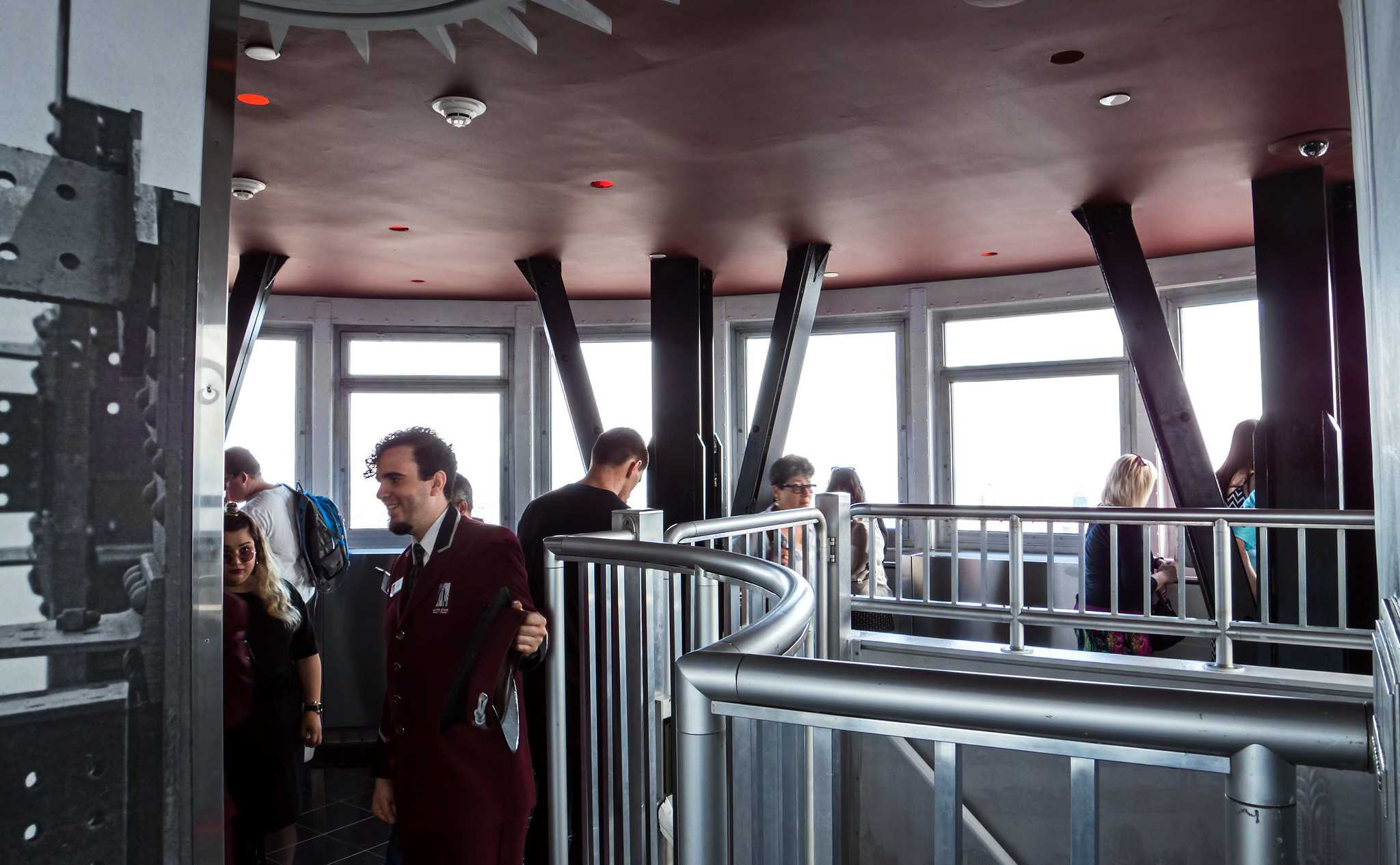 People in an observation deck