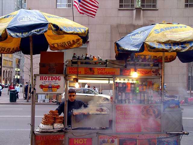 hot dog cart