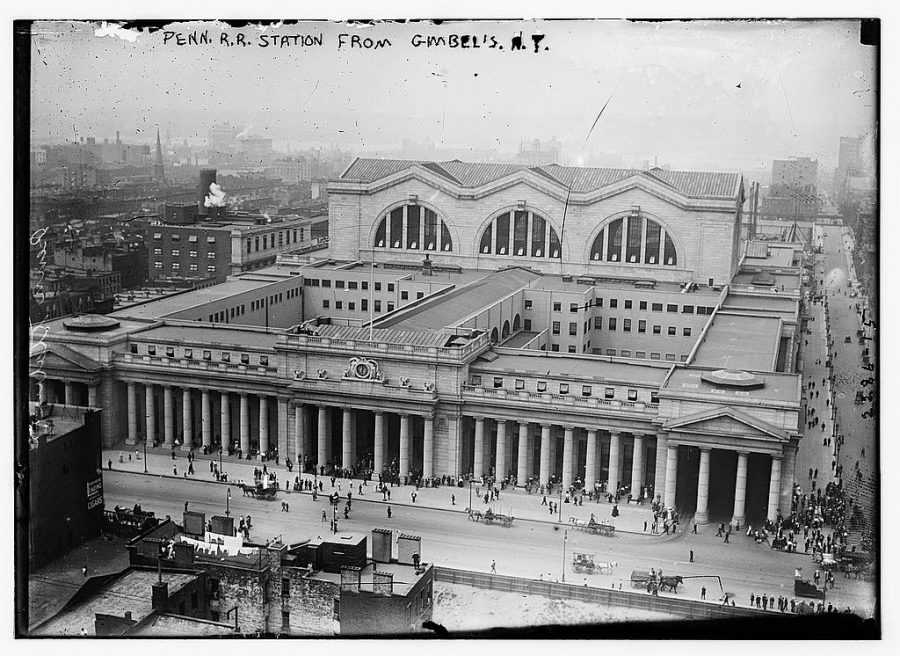 Pennsylvania Station from Gimbel's in 1911 [between ca. 1910 and ca. 1915]