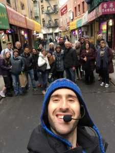Tour Group on Doyers Street in Chinatown