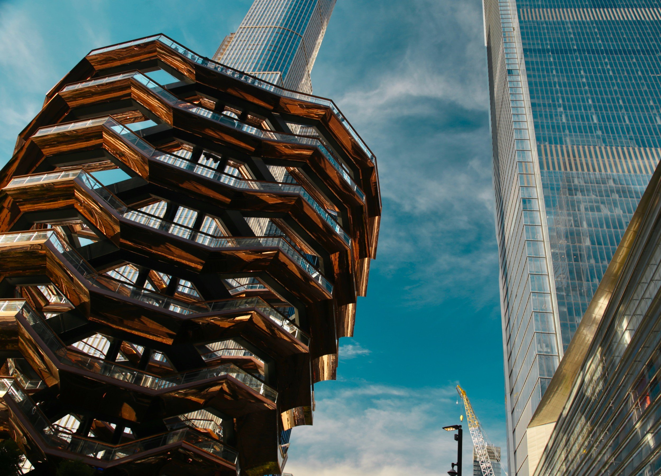 The Vessel is a popular attraction at Hudson Yards