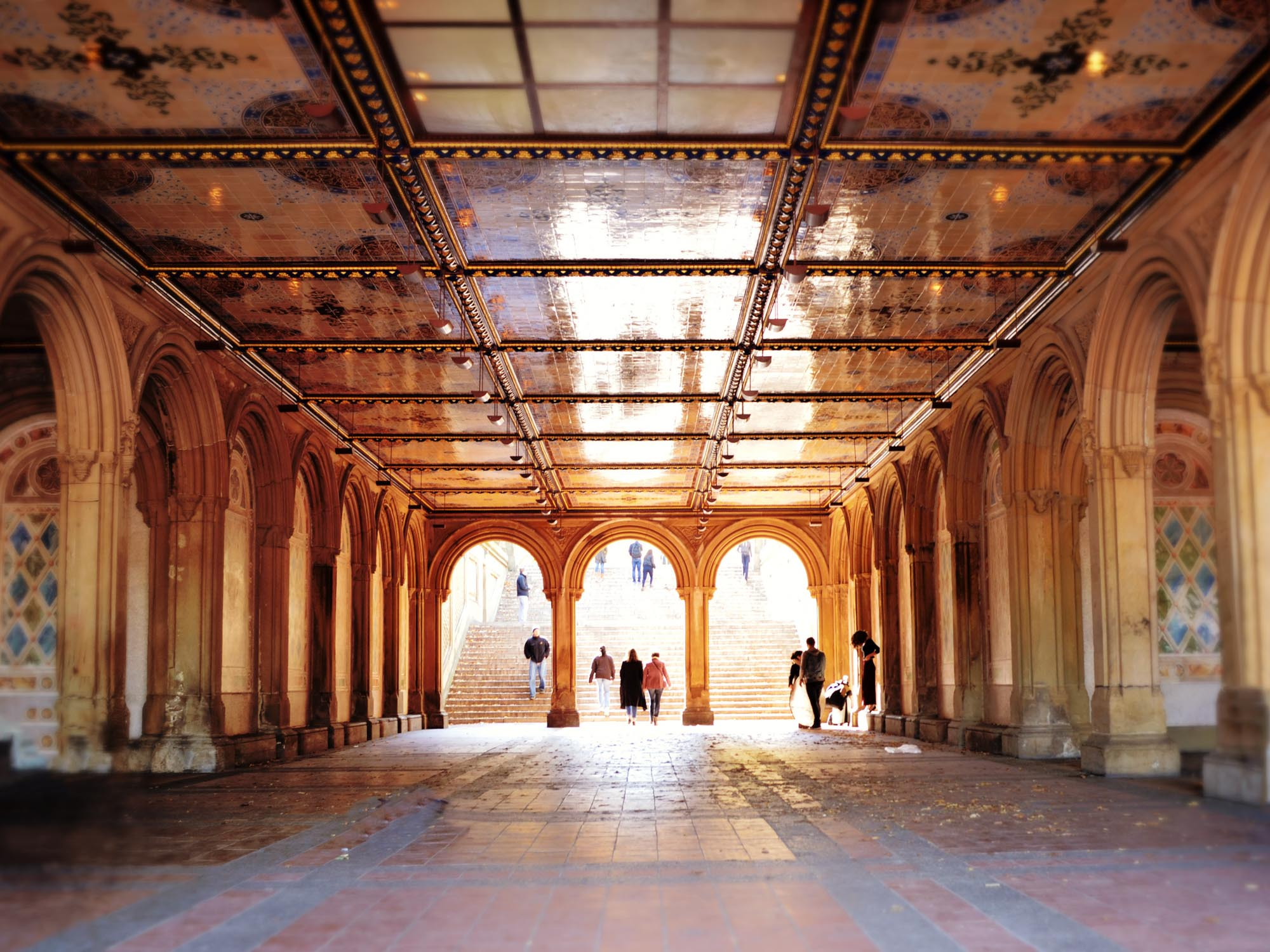 The Arcade at Bethesda Terrace in Central Park