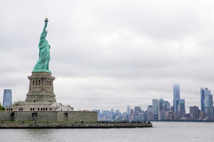 statue of liberty as seen from the ferry