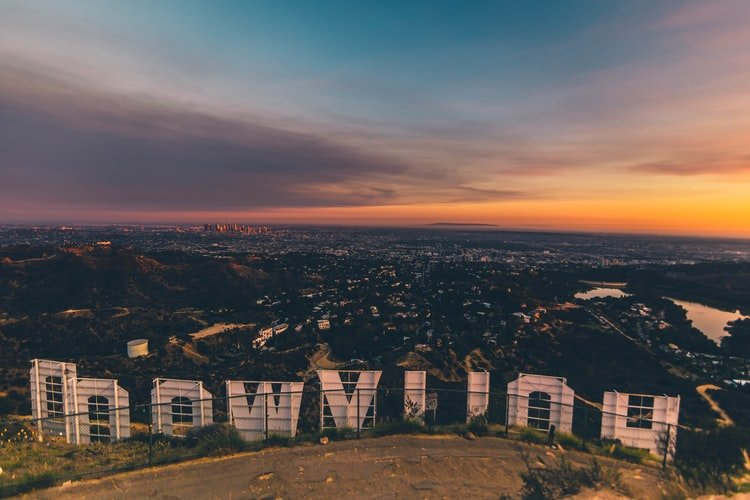 Hollywood sign back