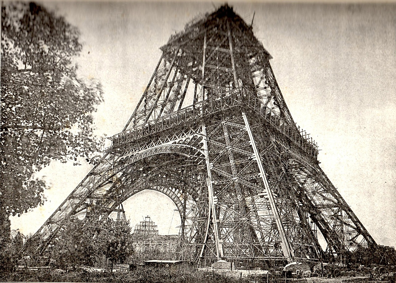 Eiffel Tower by Gustave Eiffel under construction