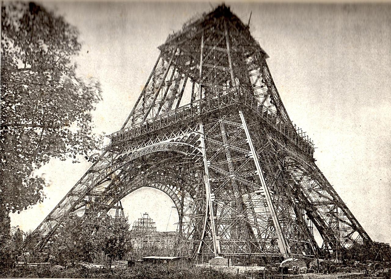 Eiffel Tower by Gustave Eiffel under construction