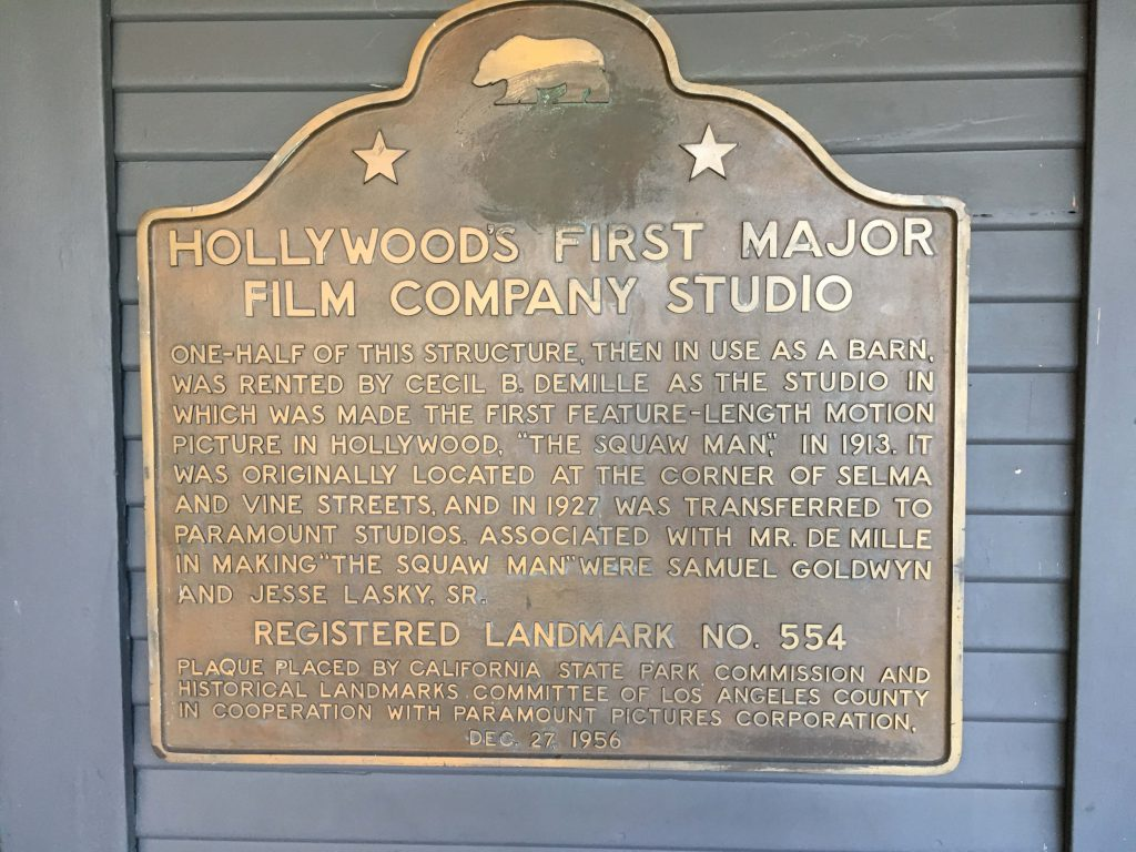 Hollywood film studio landmark in LA