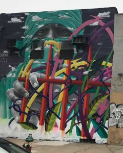 Street art, graffiti, murals