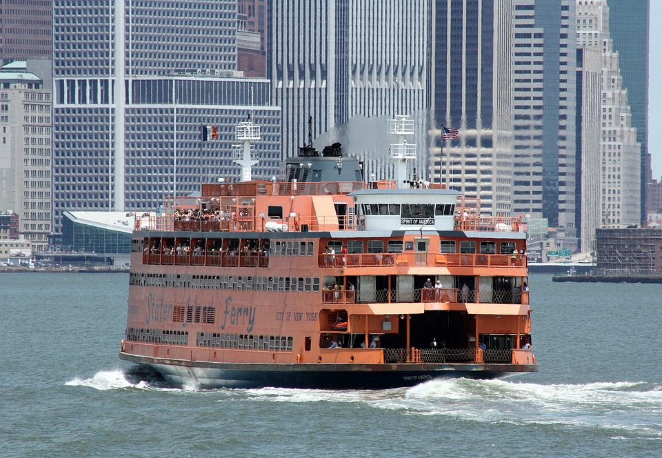 The Staten Island Ferry in New York Harbor