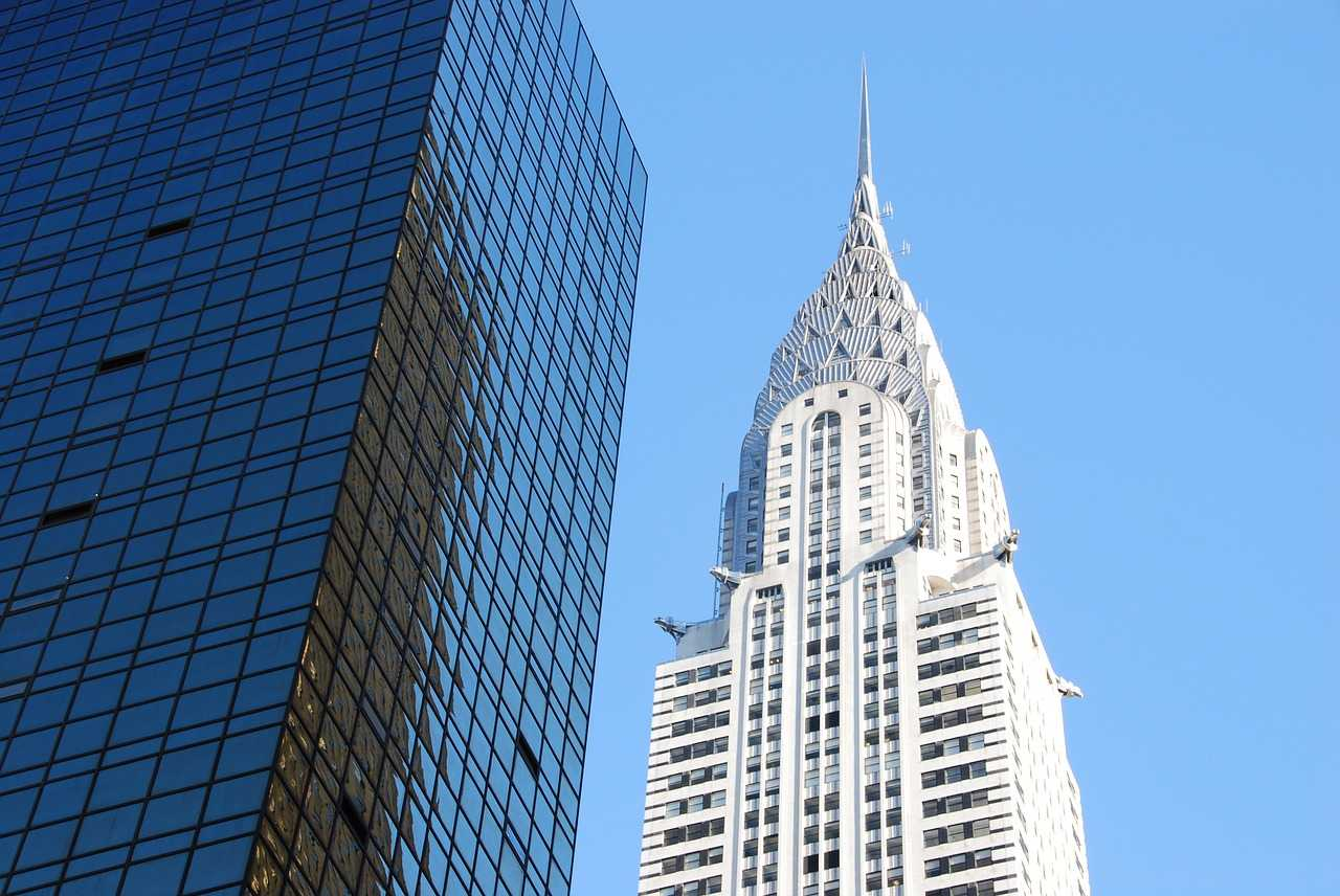 Tall Building with spire on top