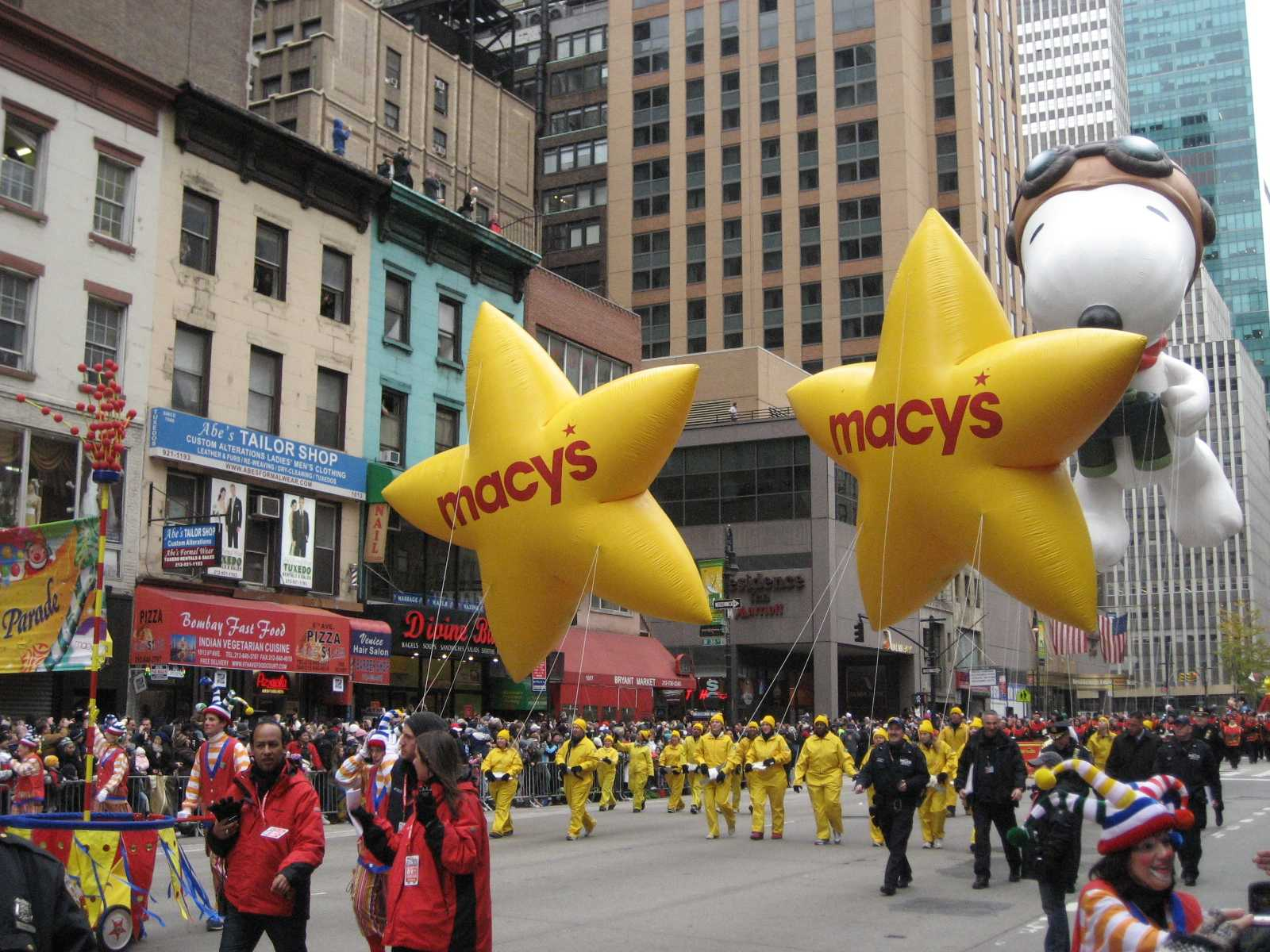 Parade with balloons