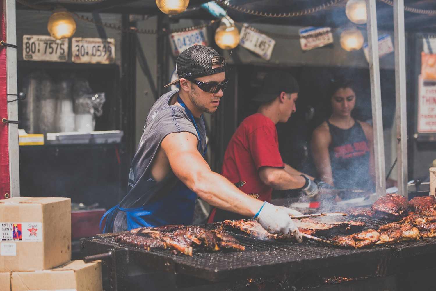 Outdoor barbecue spot in Dallas, Texas