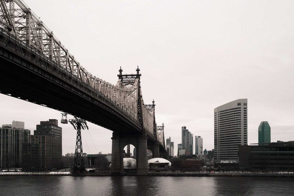 Queensboro Bridge from Sutton Place Park in New York