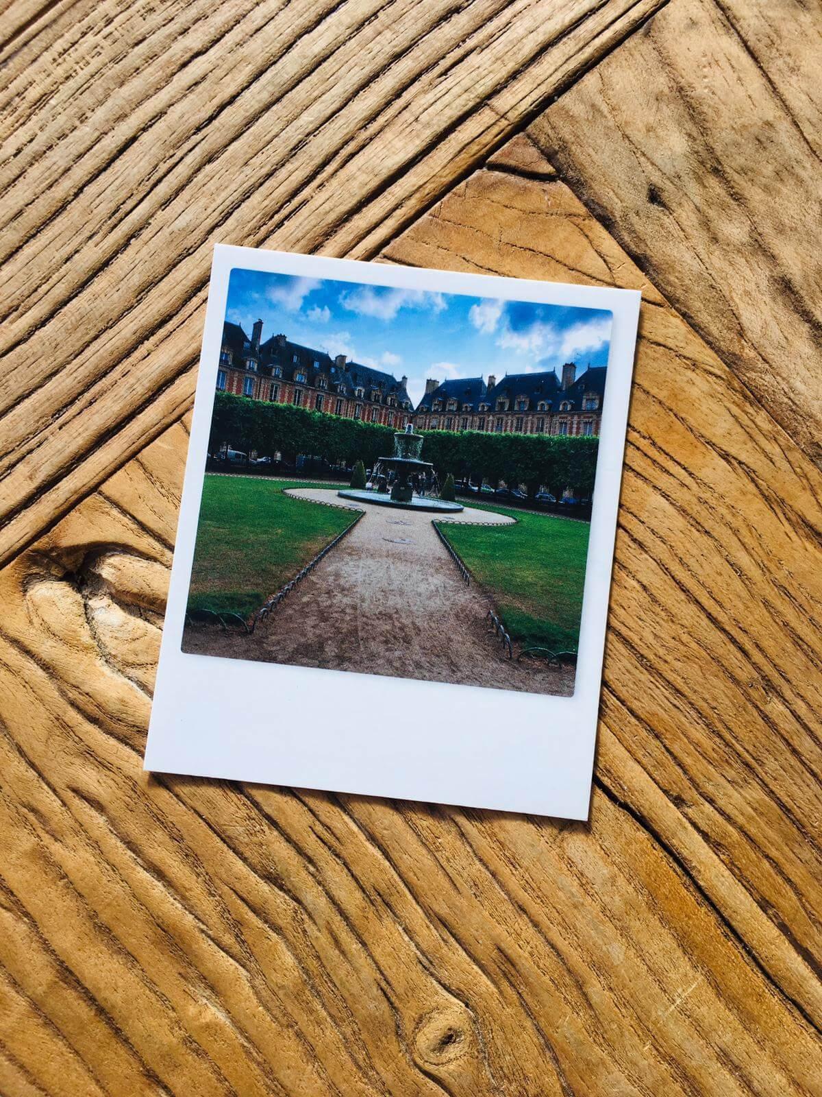 picture of a postcard of Place ace des Voges