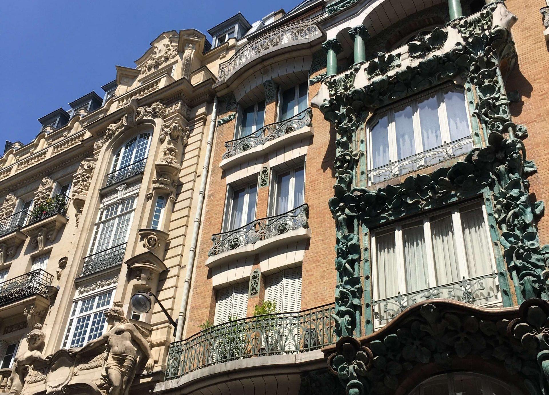 Parisian balcony in the 10th arrondissement in Paris