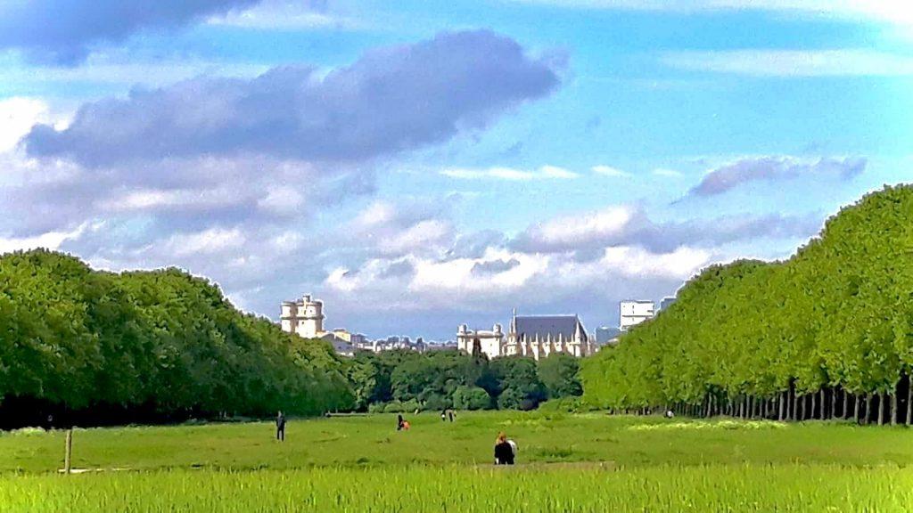 View of chateau from Bois de Vincennes