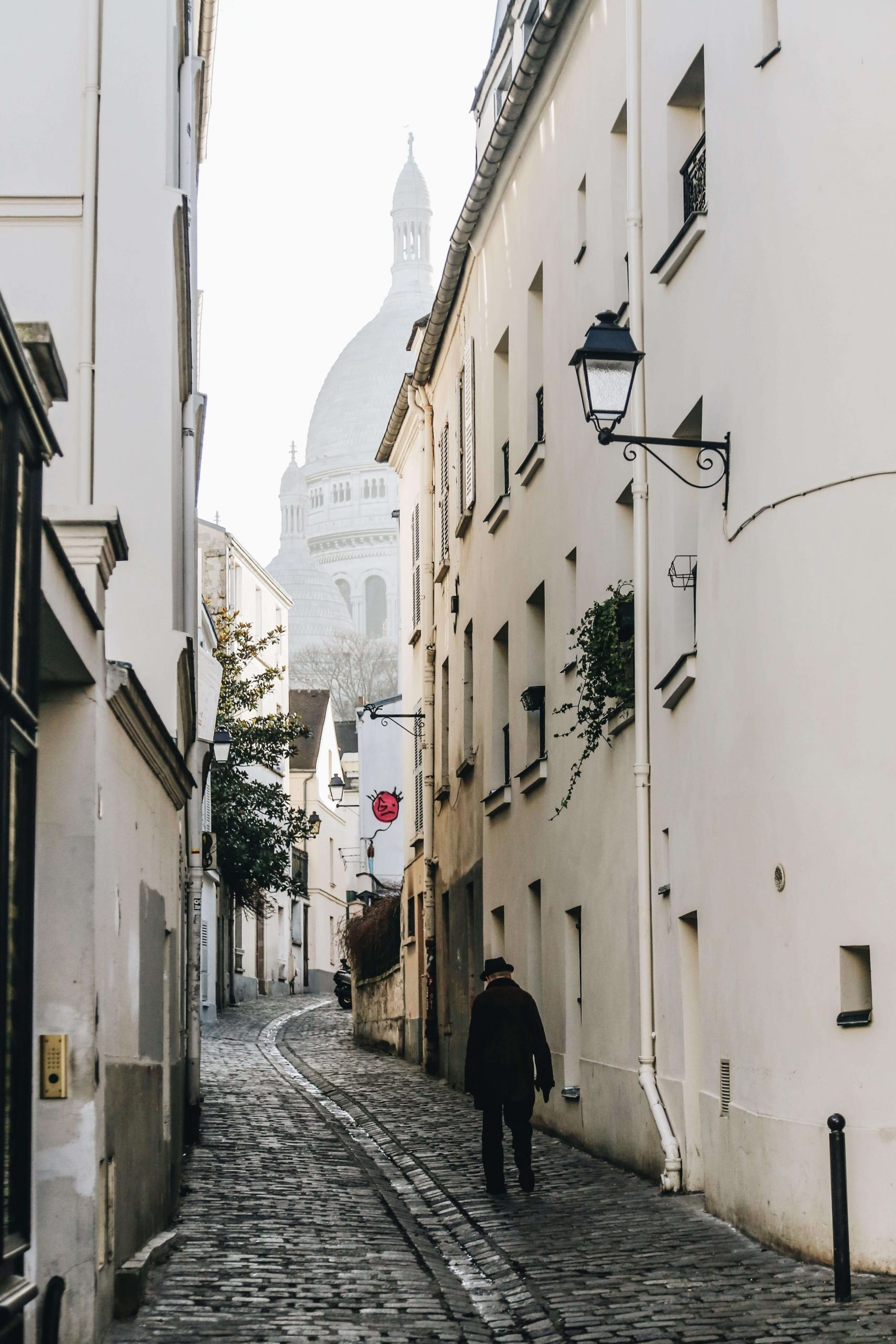 Winding streets in Montmartre