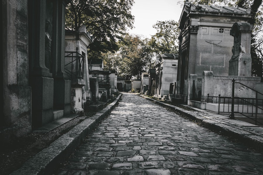 A view of the Père Lachaise cemetery