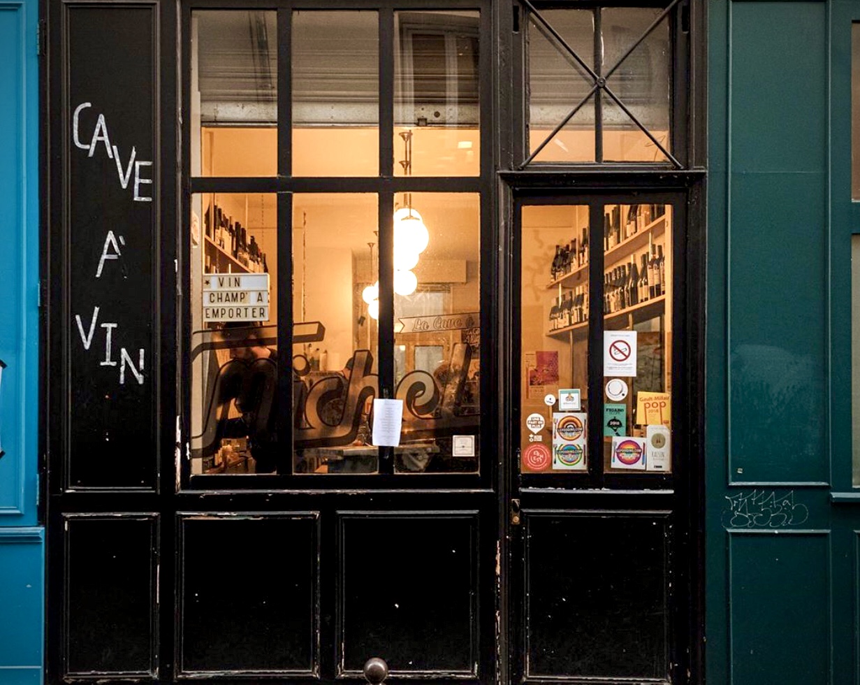 Wine bar storefront