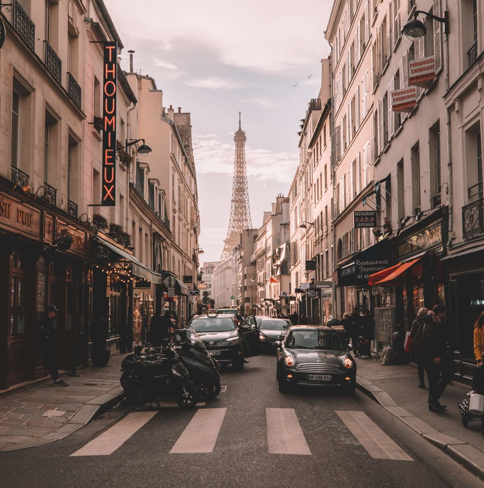 streets of the Marais neighborhood in Paris