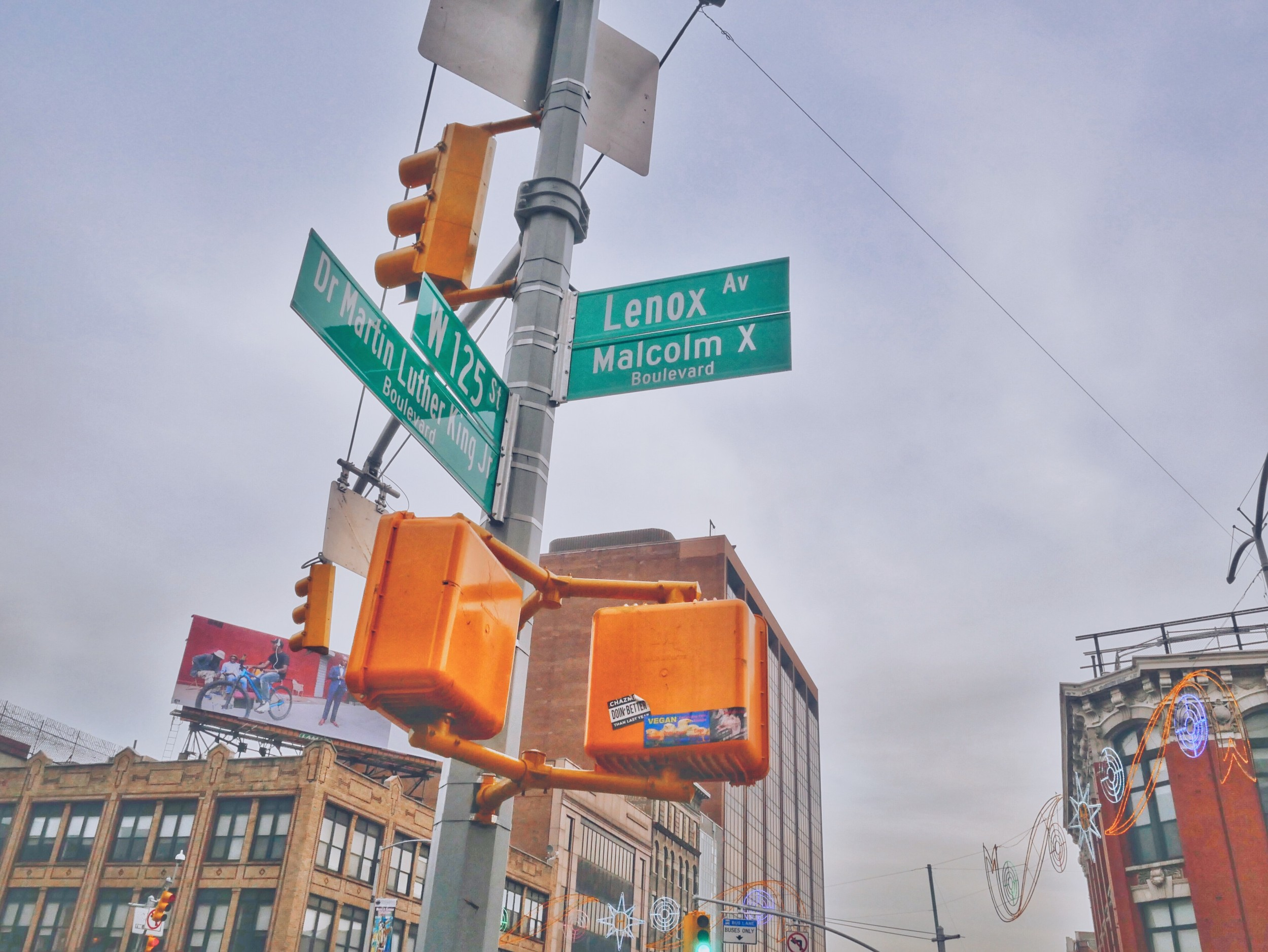 The Corner of 125th Street and Malcolm X Blvd in Harlem