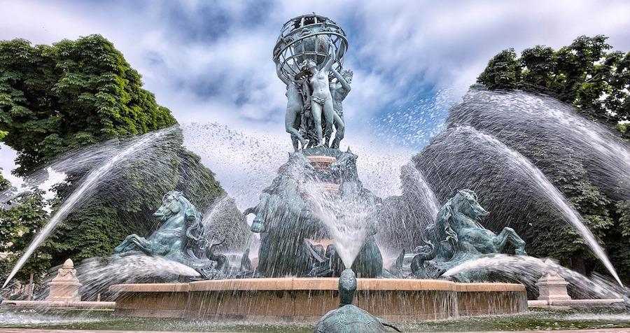 Observatory Fountain near the Jardin du Luxembourg in Paris