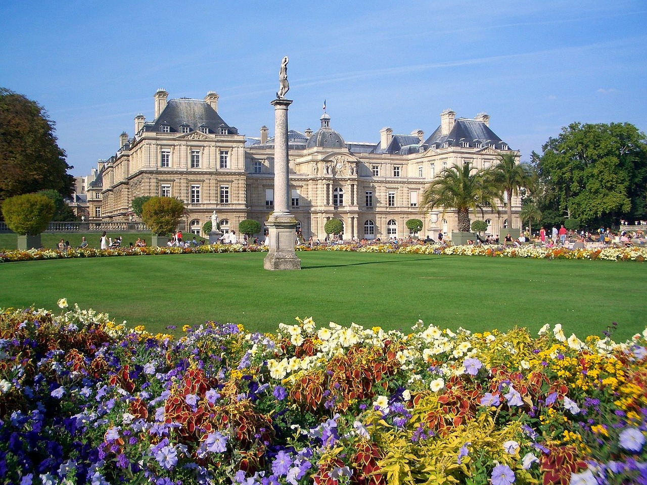 Palais de Luxembourg as the centerpiece of the Luxembourg Gardens in Paris