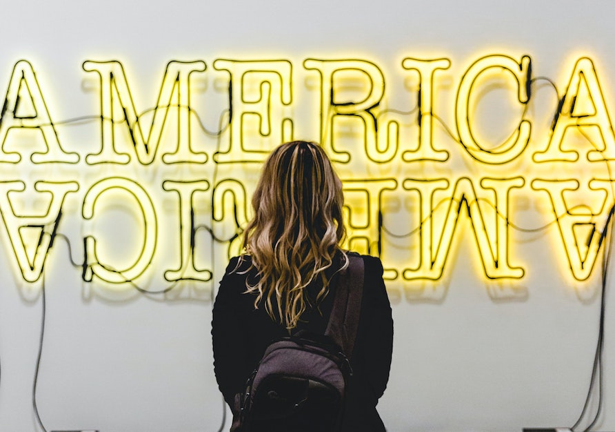 Neon lights exhibit at The Broad in LA