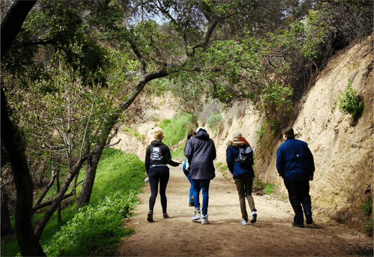 Hikers in Griffith park