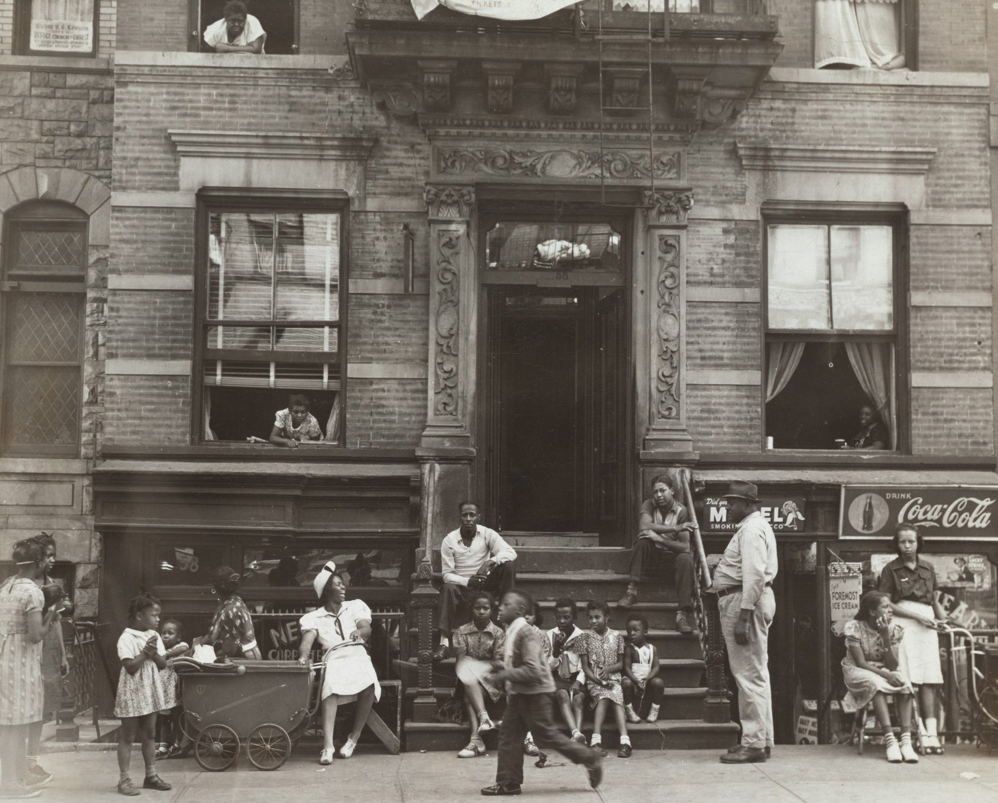 A row house in Harlem