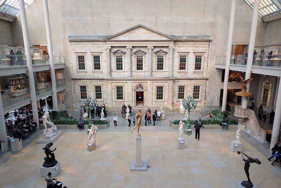 An atrium at the Metropolitan Museum of Art