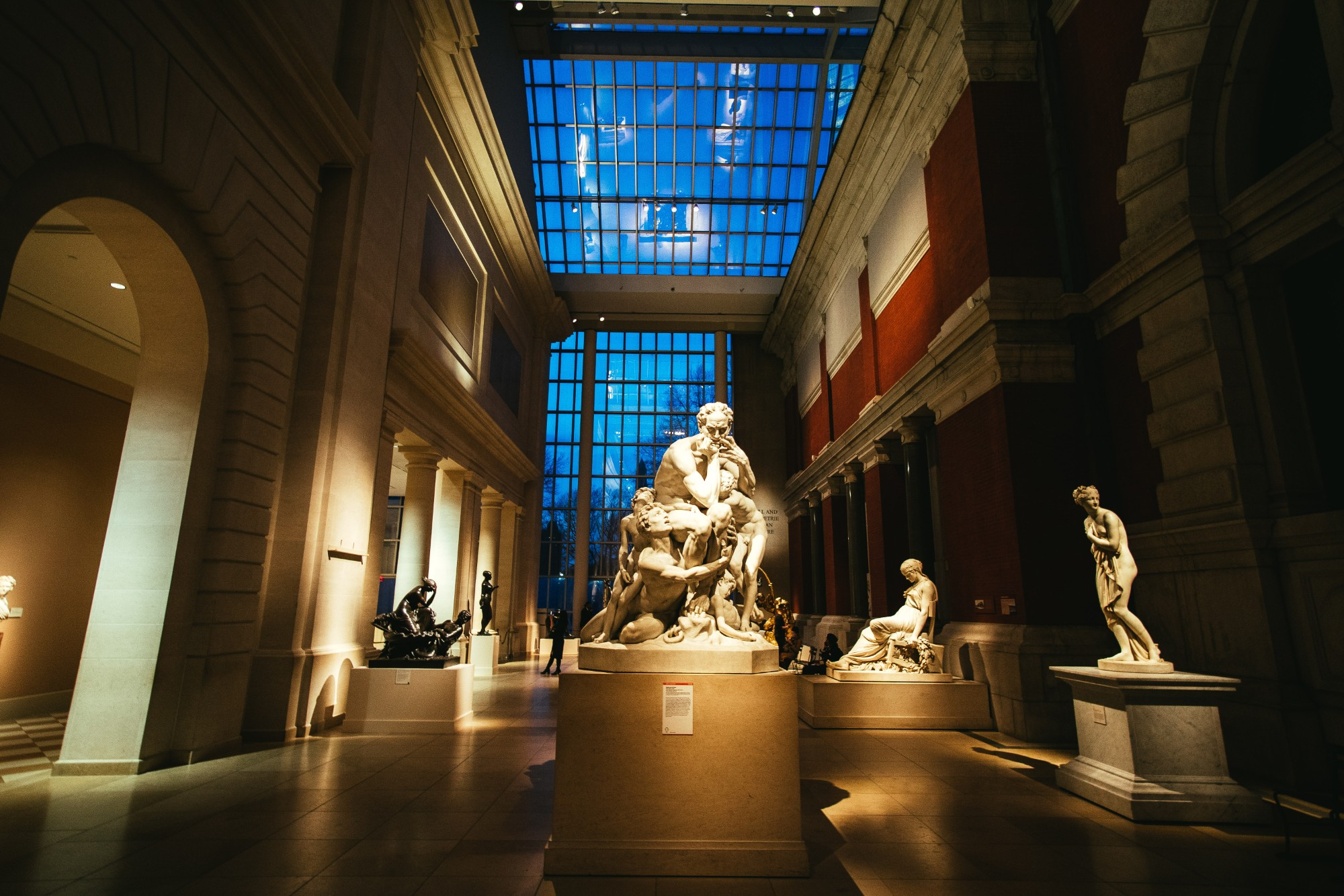Statues in the Greek wing at the Met