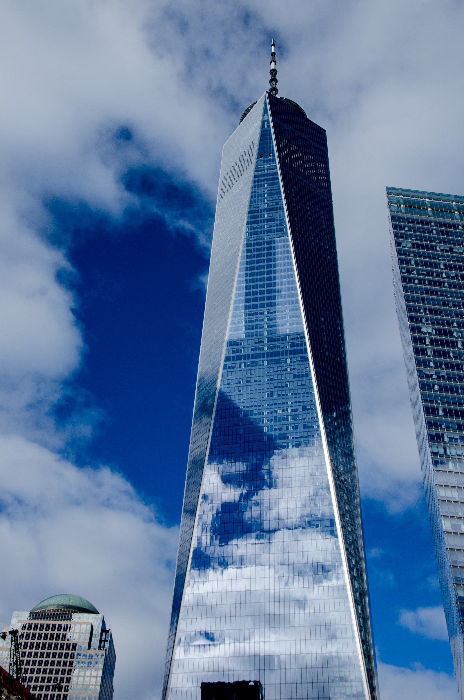 One World Observatory as seen from the ground