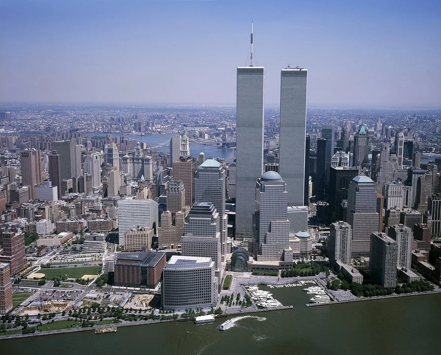 The Twin Towers seen from the air