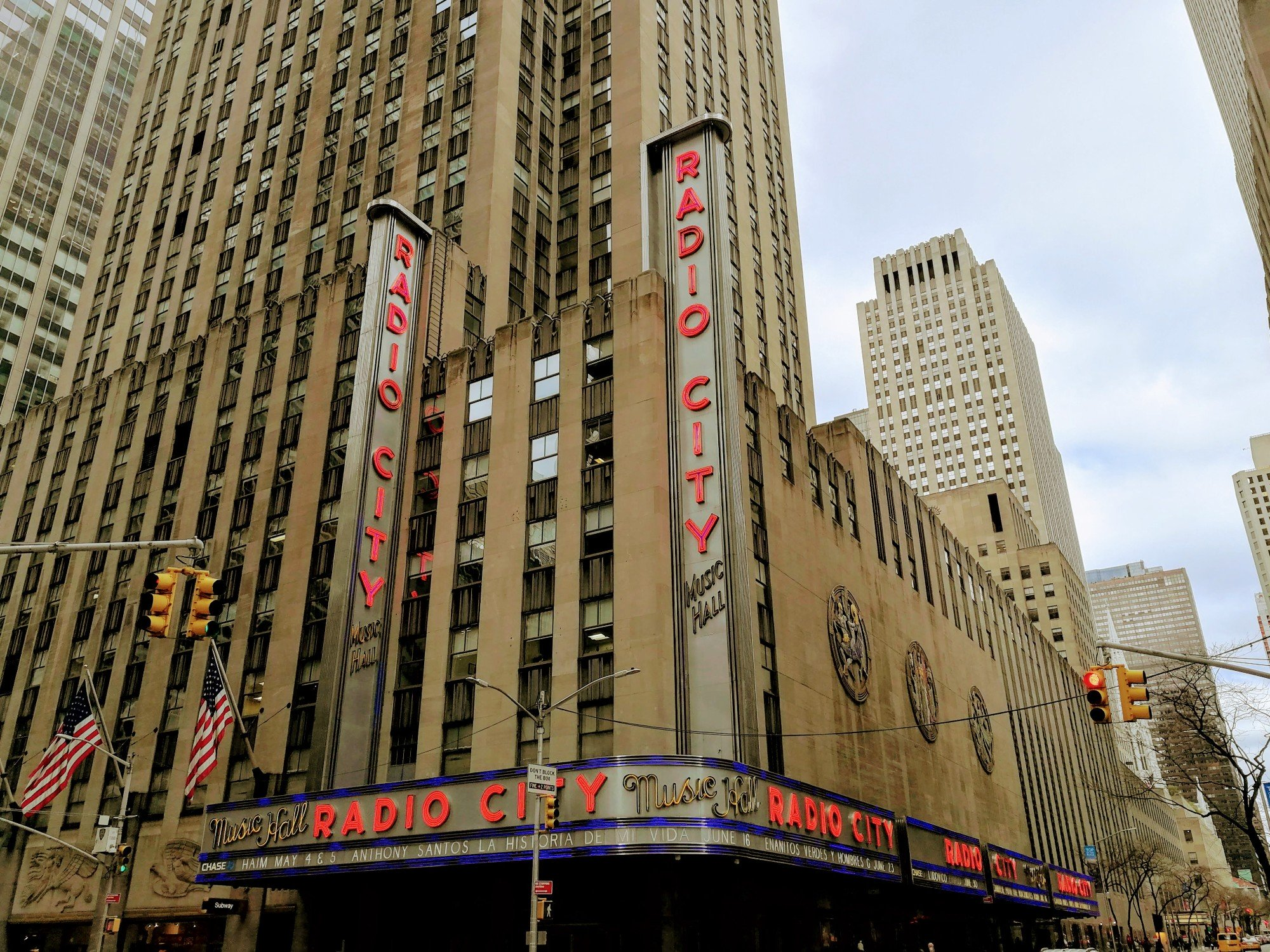 Radio City Music Hall seen from 6th Avenue