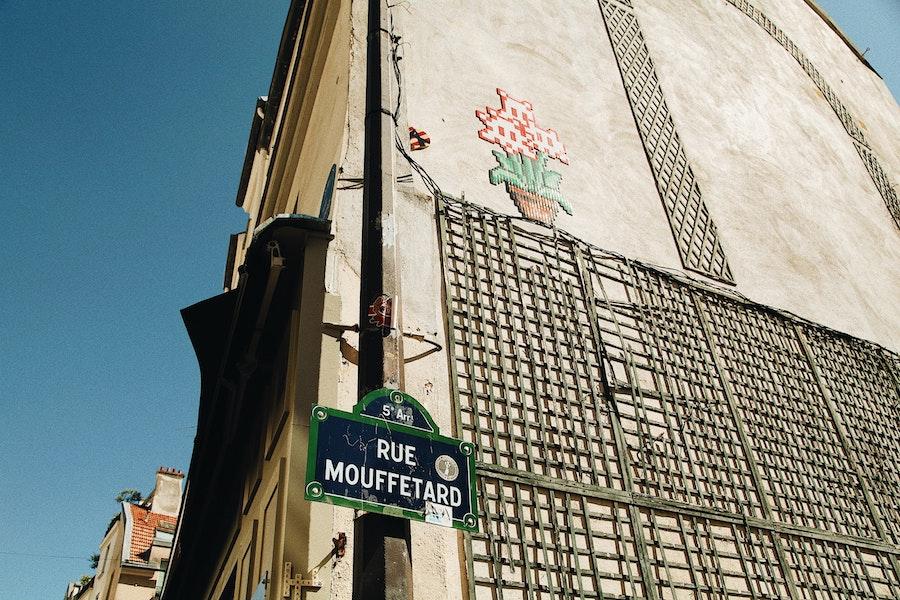 Rue Mouffetard in Paris Latin Quarter