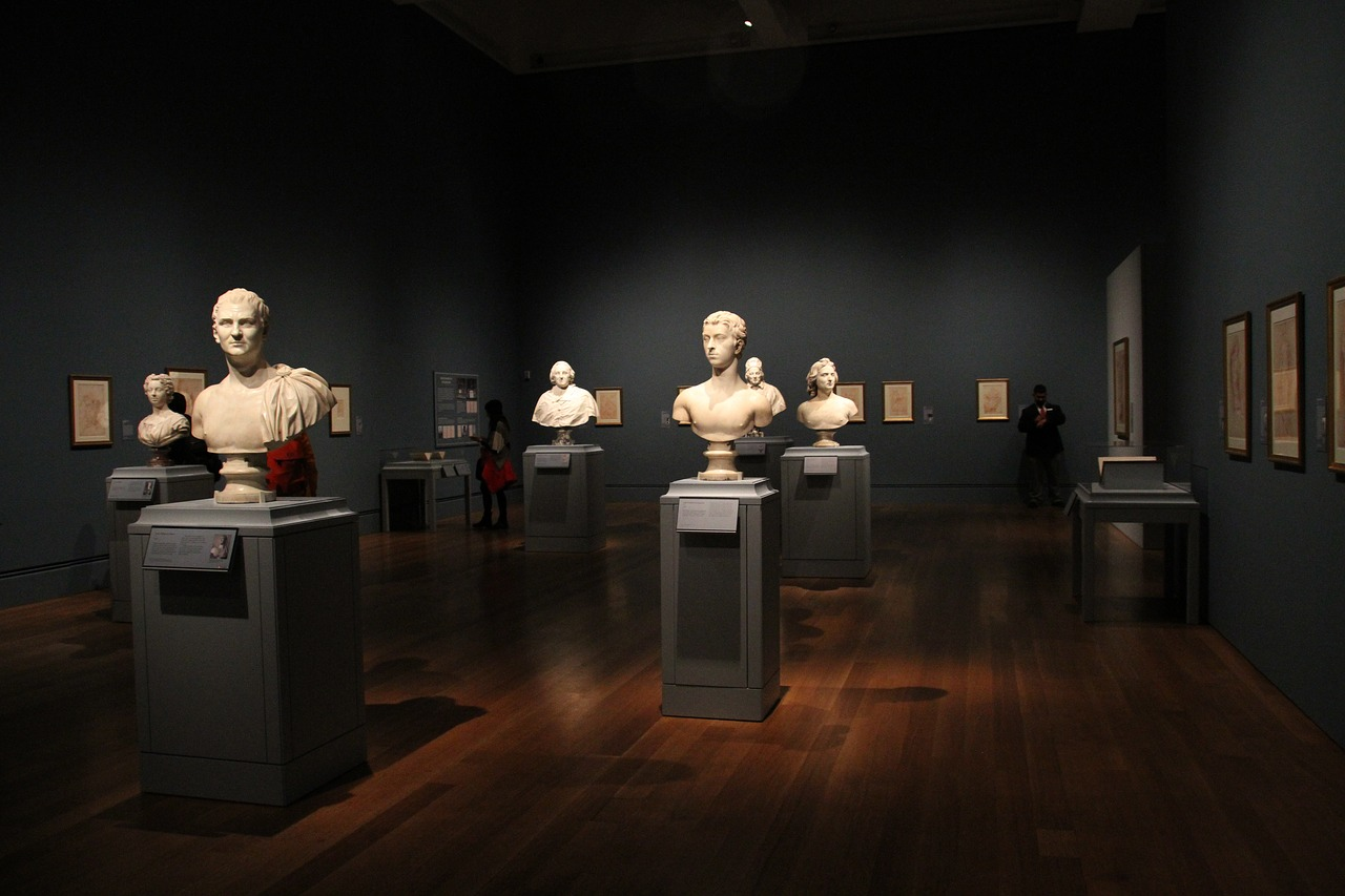 busts and sculptures at the getty center