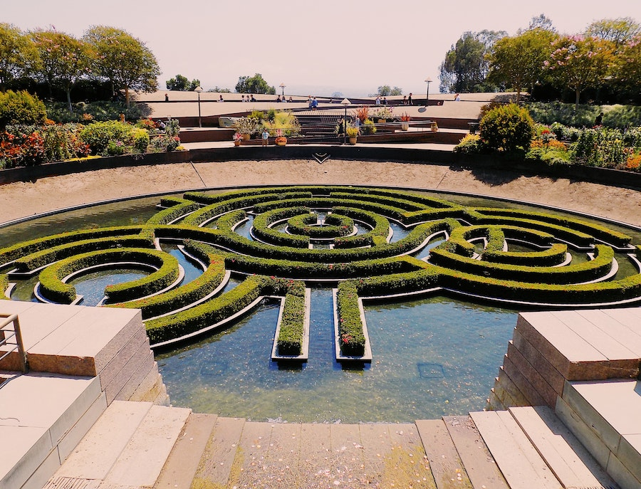 gardens at the getty center in los angeles