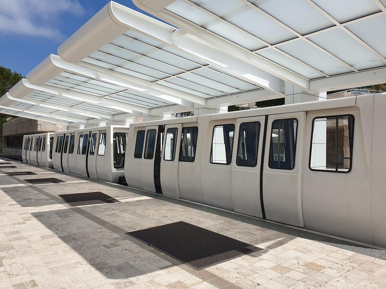 tram for the getty center in LA