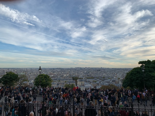 A view from the top of the Sacre Coeur at Montmartre