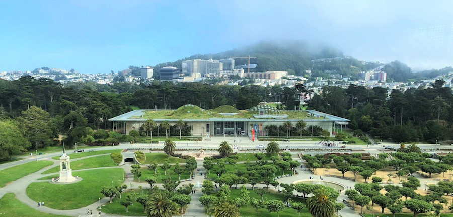 California Academy of Sciences aerial view