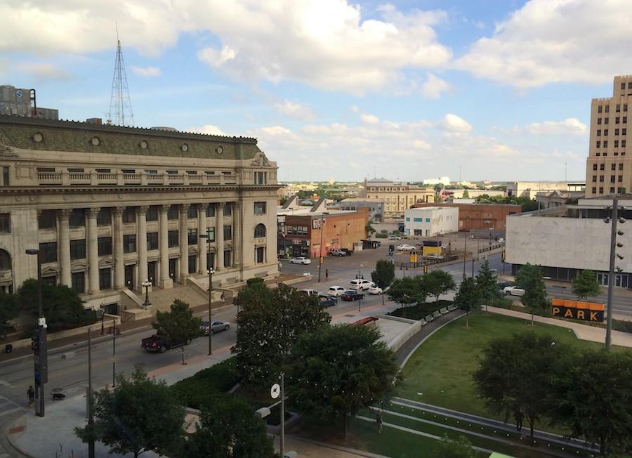 Downtown Dallas historic buildings near Dealey Plaza