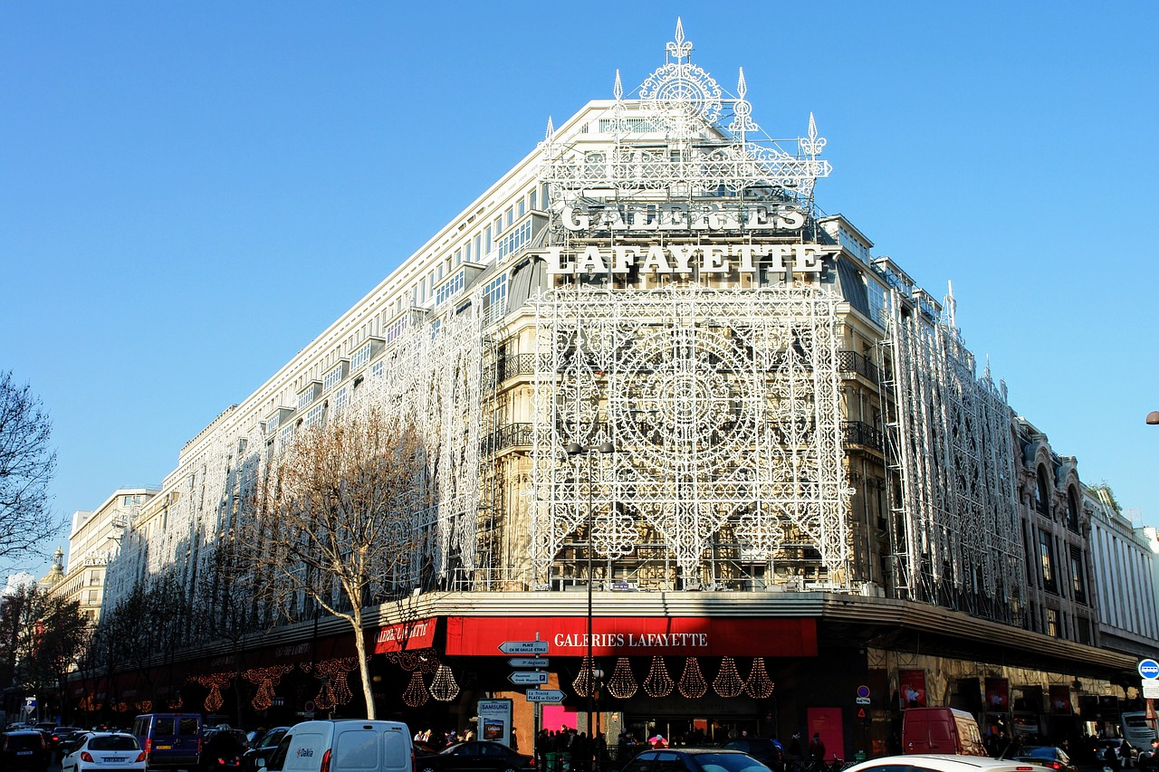 Galeries Lafayette flagship store in Paris from the outside