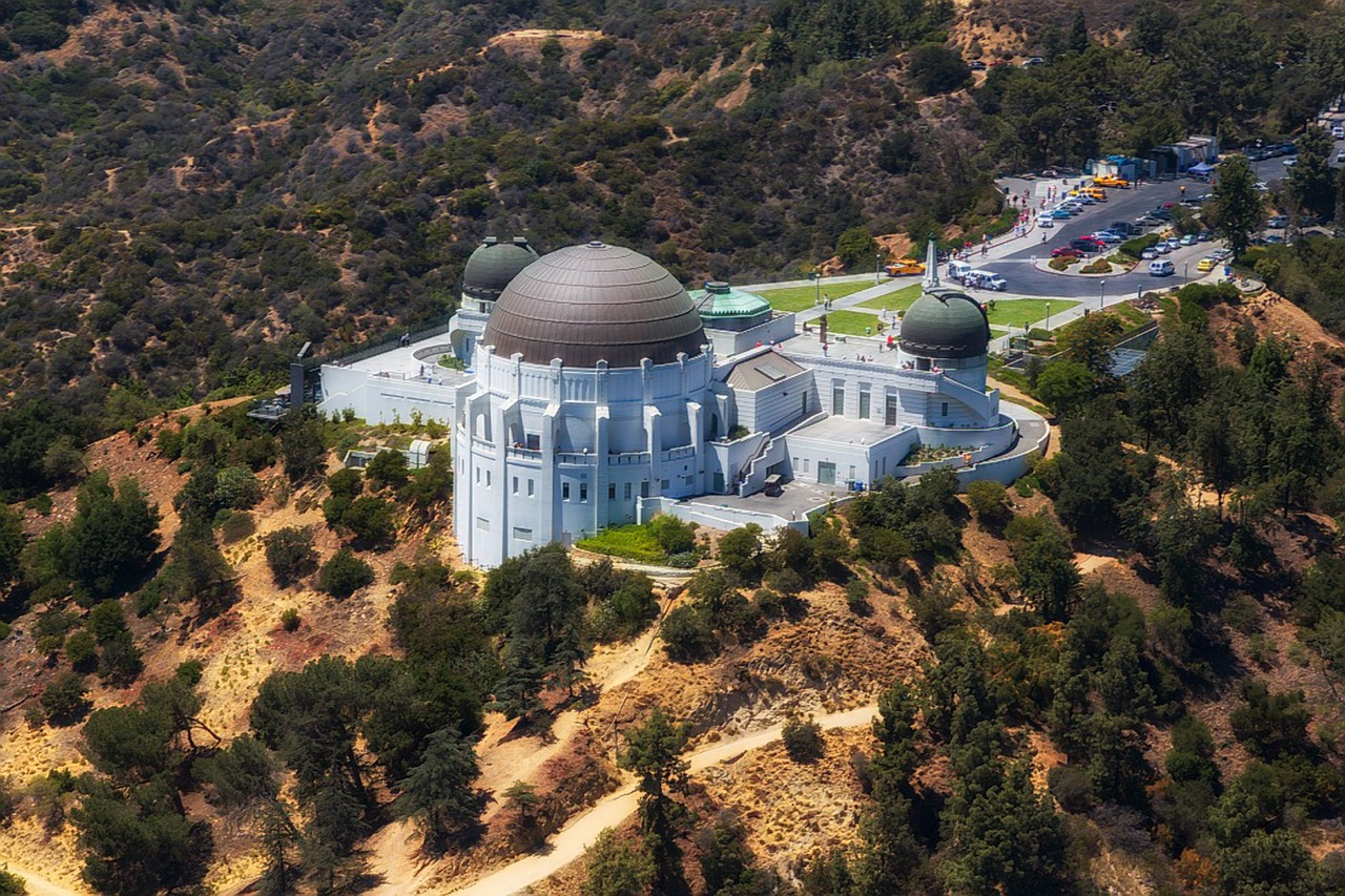 Griffith Observatory as seen from above