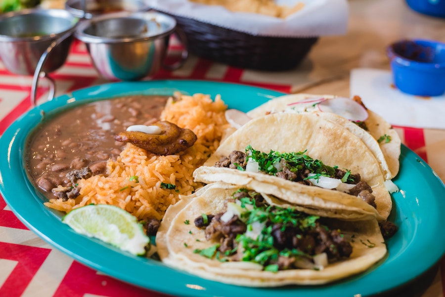 Taco Tex-Mex meal from Dallas City Tour of Food and Culture