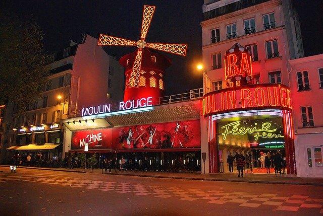 Moulin Rouge windmill near Montmartre