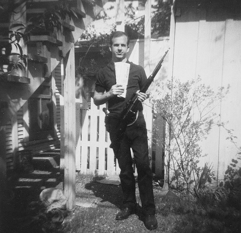 Oswald photo at Neely Street Boarding House on a JFK tour of Dallas