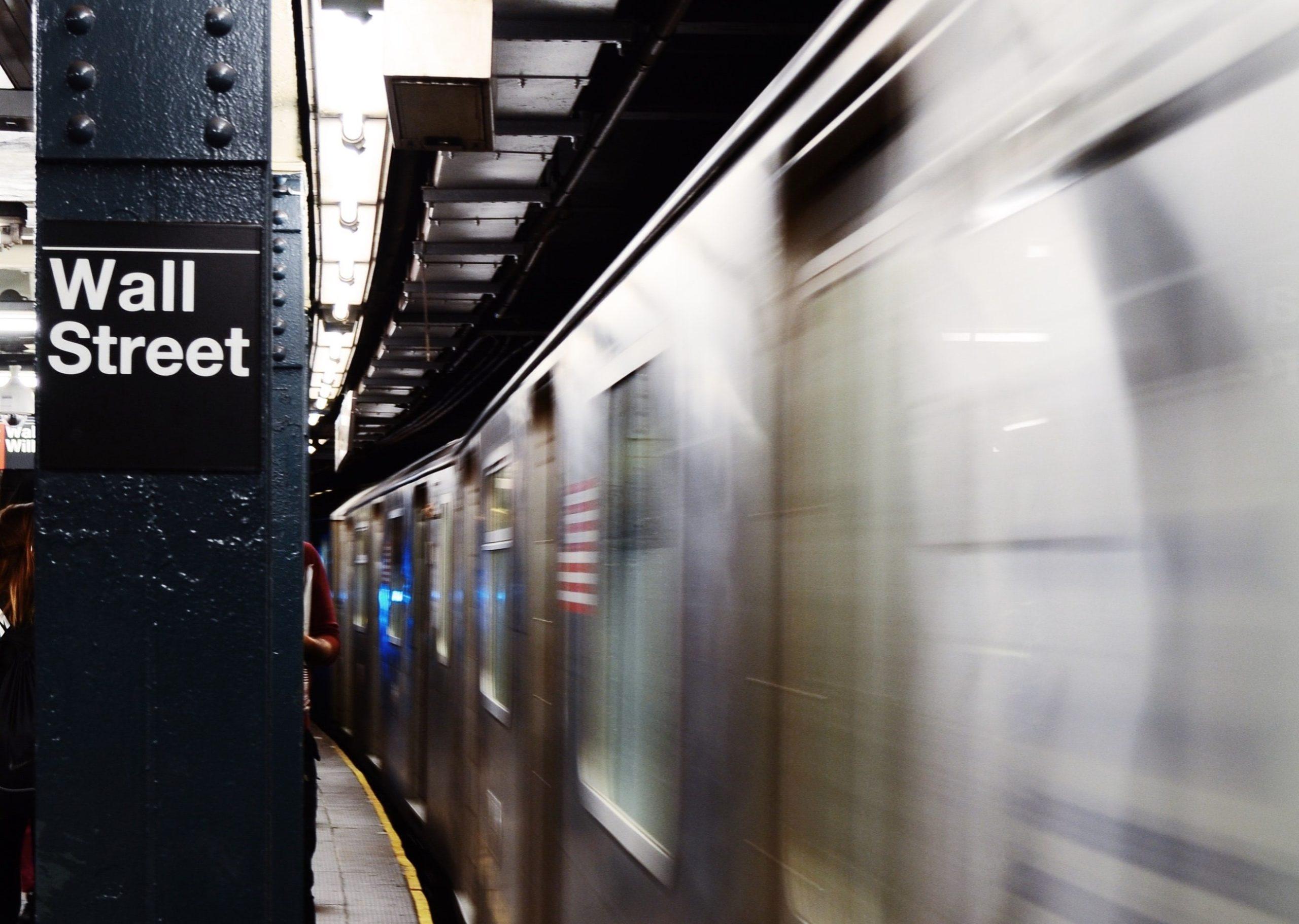 The Wall Street subway stop