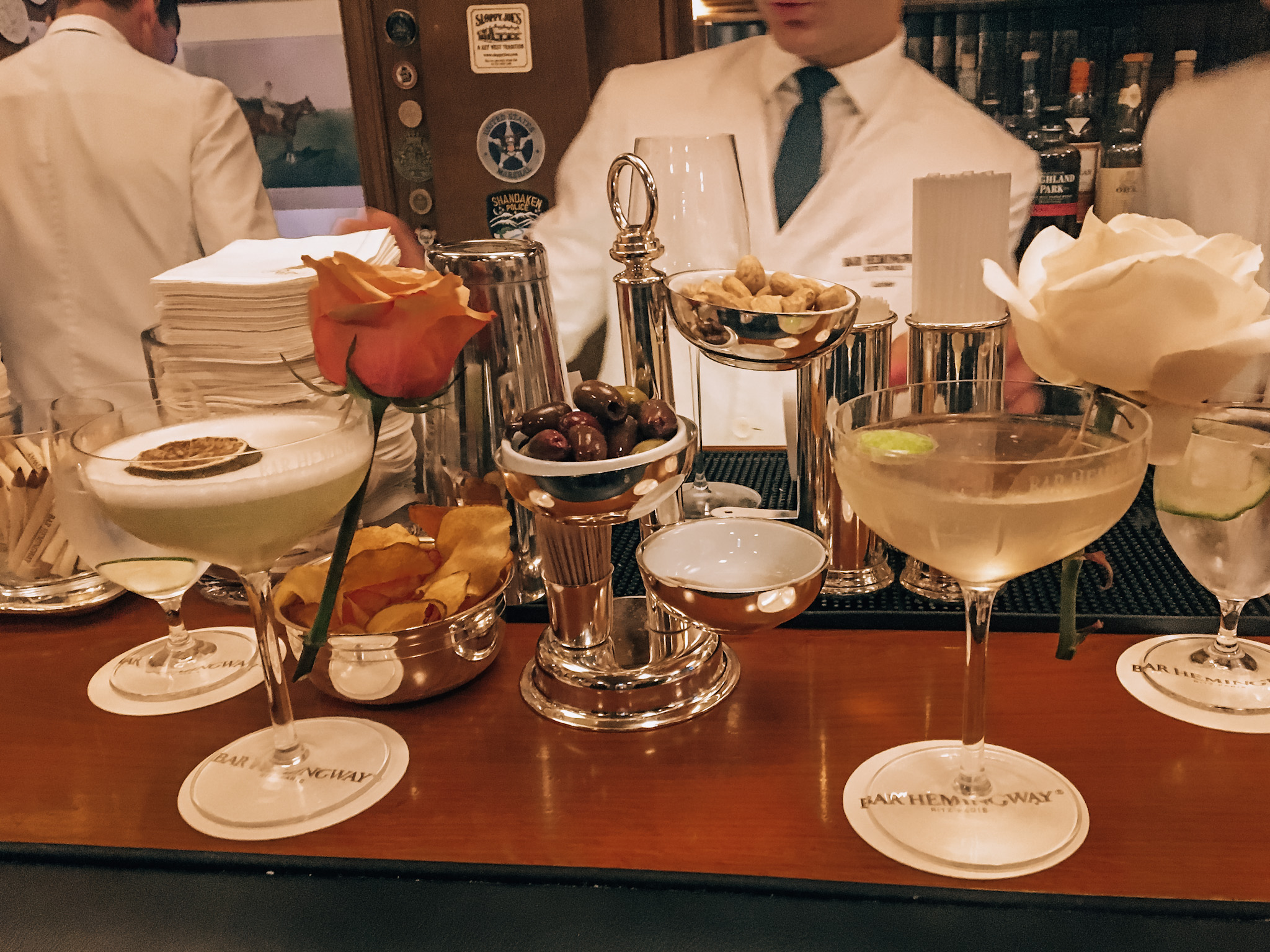 30-euro cocktails at Bar Hemingway in the Ritz Hotel, a historic spot for Paris nightlife hotel